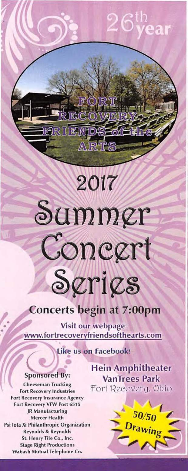 Ohio mercer county fort recovery - 2017 Concert Series_page_01